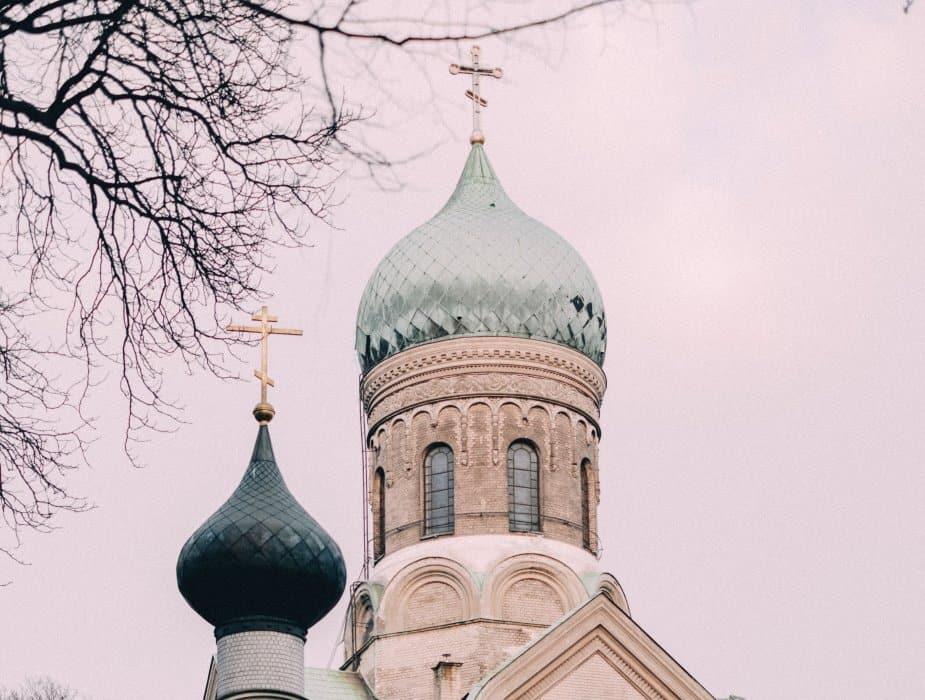 Christlich orthodoxe Kirche Kirchturm